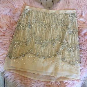 H&M Sequins Beaded Miniskirt